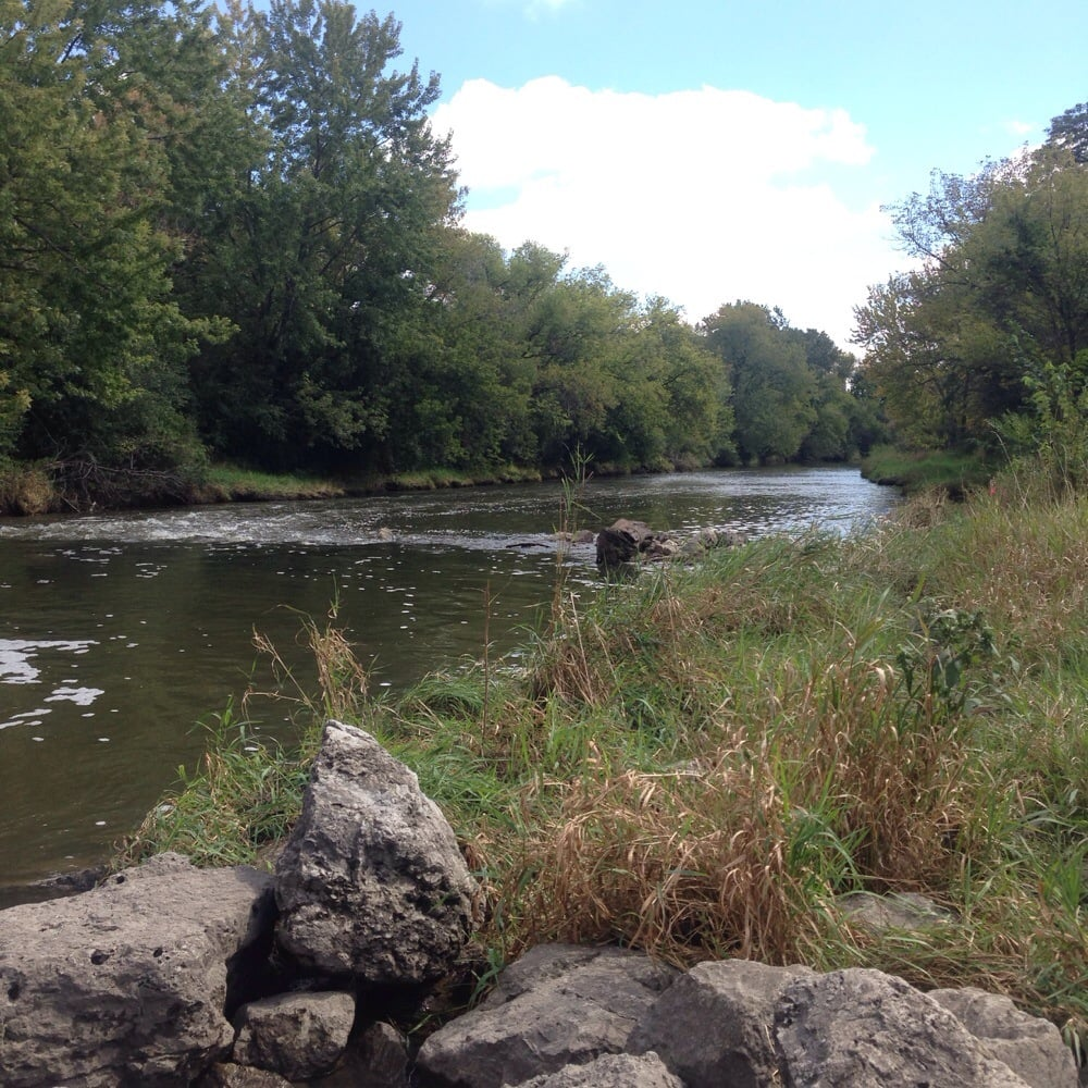View of the west branch of the dupage river from the dam for Forest grove plumbing