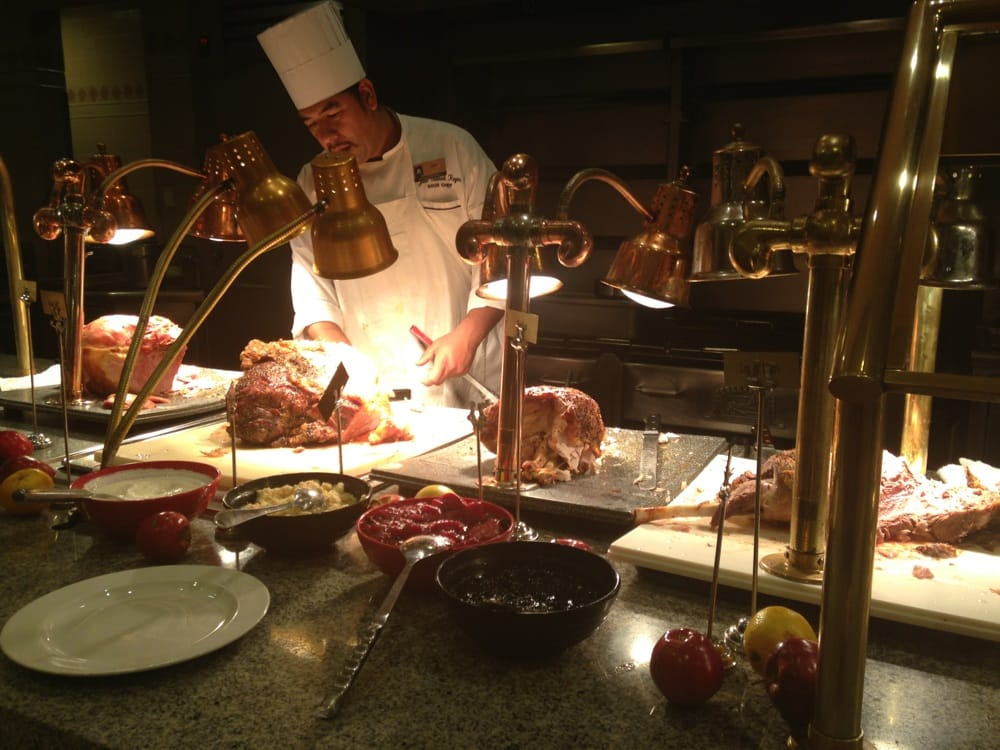 carvery featuring roast beef  turkey  ham and leg of lamb