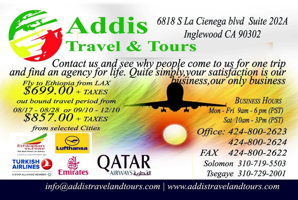 Addis Travel & Tours: 6818 S La Cienega Blvd, Inglewood, CA