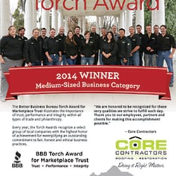 Photo Of Core Contractors   Denver, CO, United States. BBB Torch Award  Winner