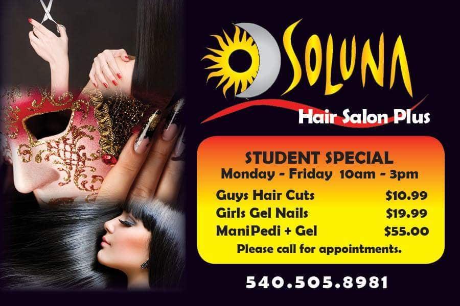 Soluna Hair Salon Plus: 2890 N Franklin St, Christiansburg, VA