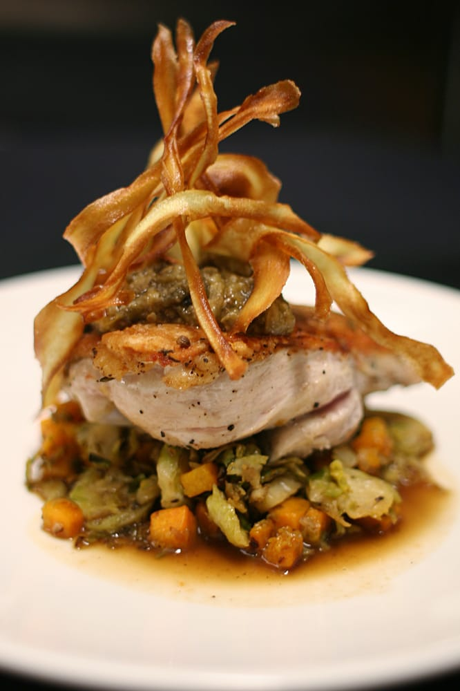 Pan seared airline chicken w butternut squash for Fred s fish fry