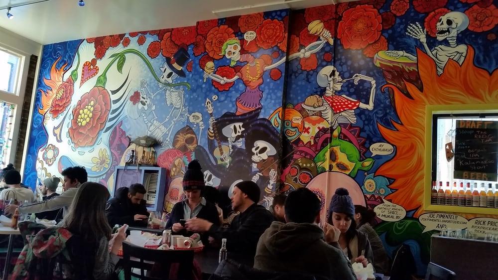 Nice mural d a de los muertos yelp for Dia de los muertos mural
