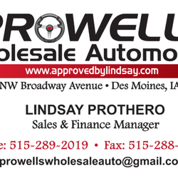 Prowells wholesale automotive wholesalers 412 ne broadway ave photo of prowells wholesale automotive des moines ia united states lindsay protheros lindsay protheros business card colourmoves