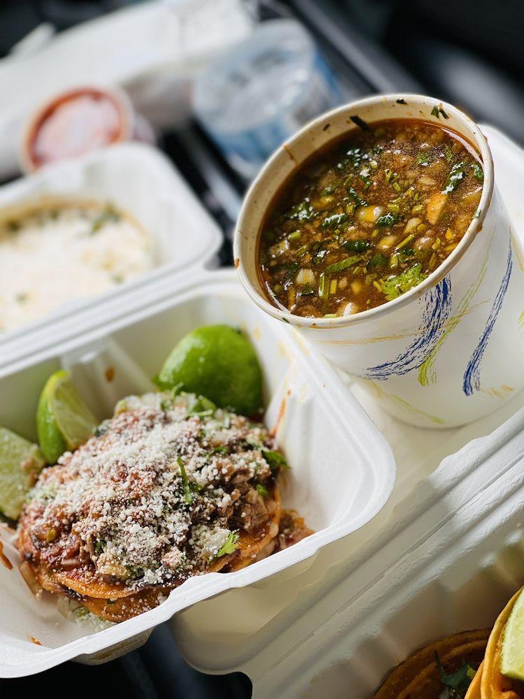 Food from Birria Landia Williamsburg