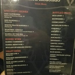 Samba Brazilian Steakhouse Menu Redondo Beach Ca