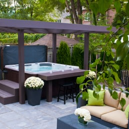 Backyard Retreat Home Leisure 12 Photos Hot Tub Pool 2528 Bristol Circle Oakville On
