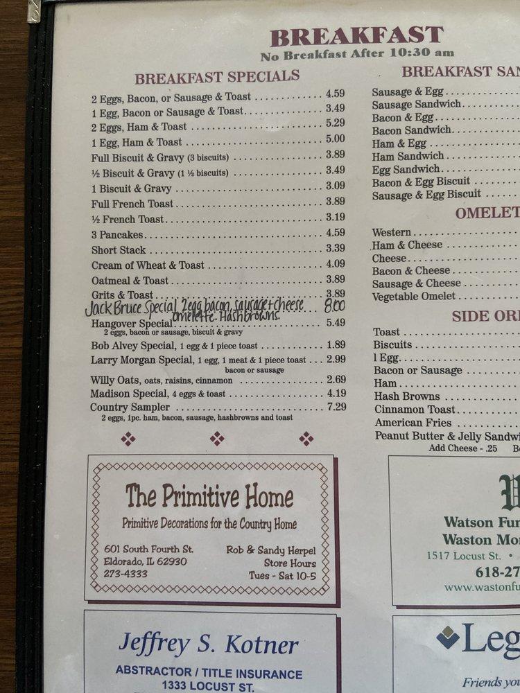 Liz's Cafe: 1218 US Hwy 45 N, Eldorado, IL