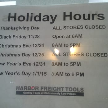 Harbor Freight Christmas Eve Hours.Harbor Freight Tools Yelp