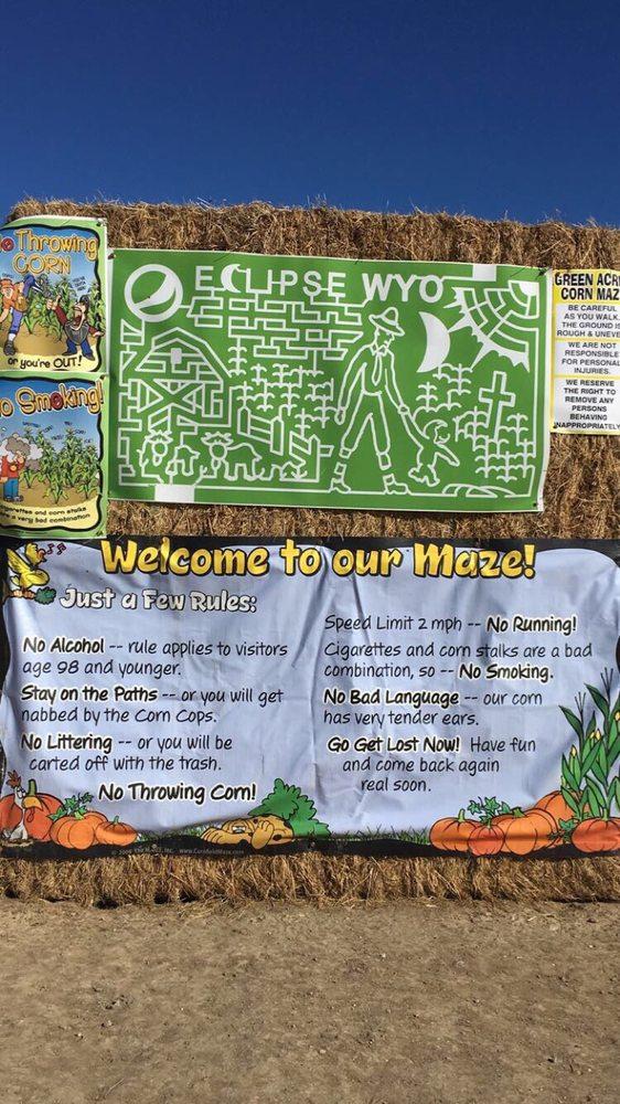 Green Acres Corn Maze: 8451 Haines Rd, Casper, WY