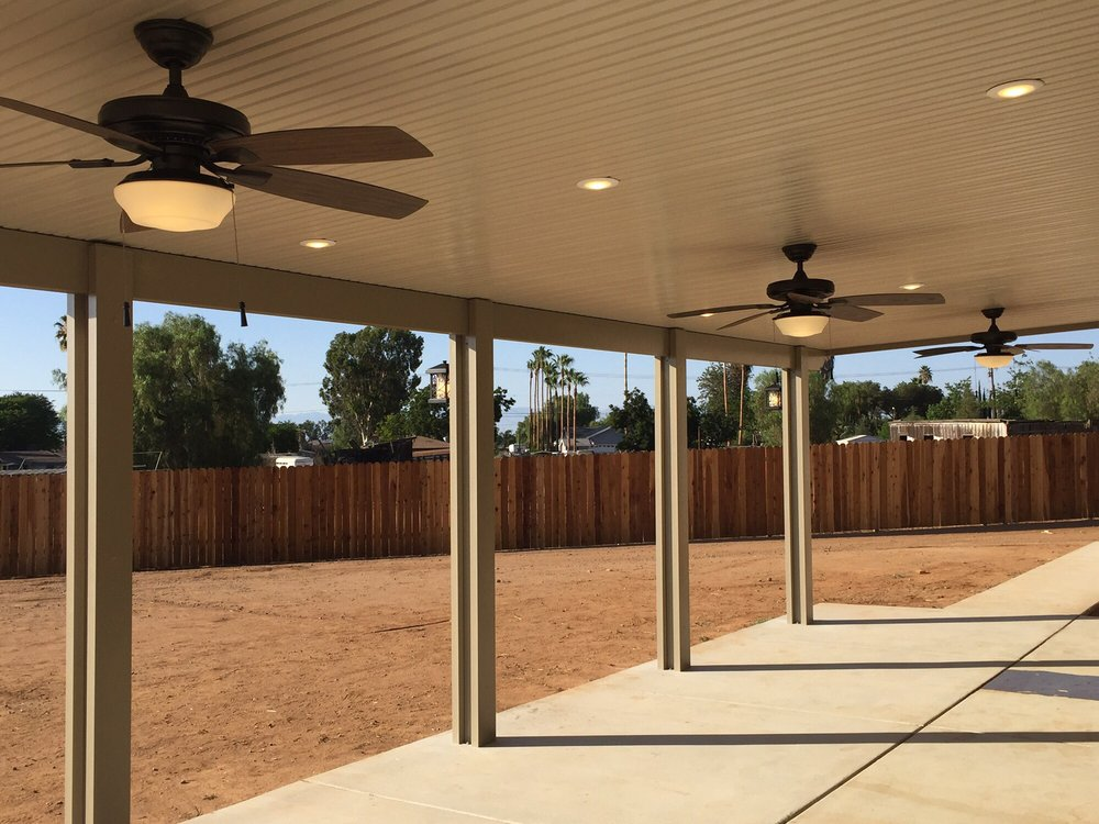Photo of Above u0026 Beyond Patio Covers - West Covina CA United States. & Solid/ Covered with Fans LED Recessed Lights Bluetooth Speakers ...