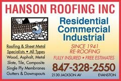 Photo Of Hanson Roofing Inc Evanston Il United States