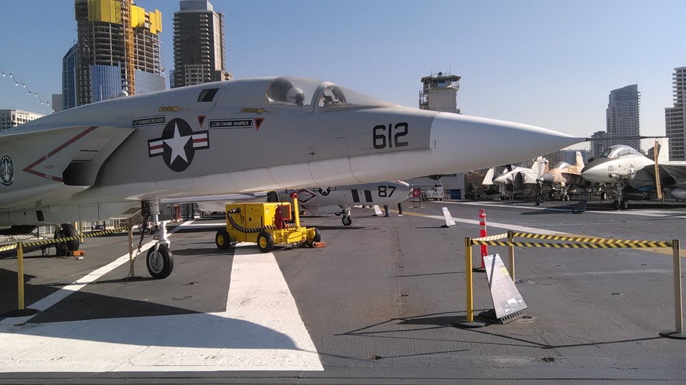 Photo of USS Midway Museum - San Diego, CA, United States. Vigilante phot reconnaissance jet
