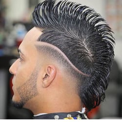 Image result for barbershop punk hair