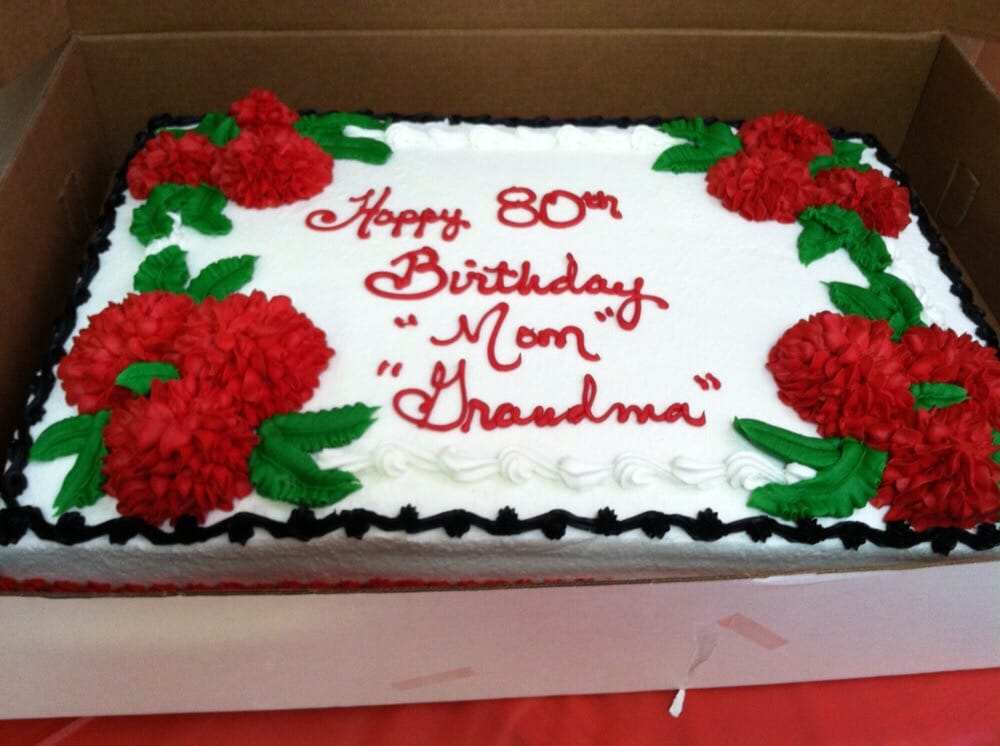 80th Birthday cake for my grandmother With strawberry and