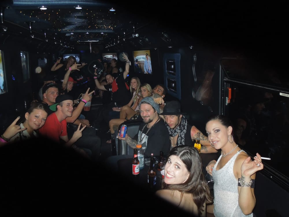 Bam Margera And Crew On Our Way To Mike Busey S Sausage Castle On The Night Train Party Bus Yelp