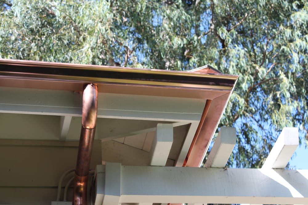 Copper Seamless 5 Inch K Style Gutter With Euro Round