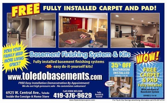 Toledo Basements Basement Finishing System Yelp