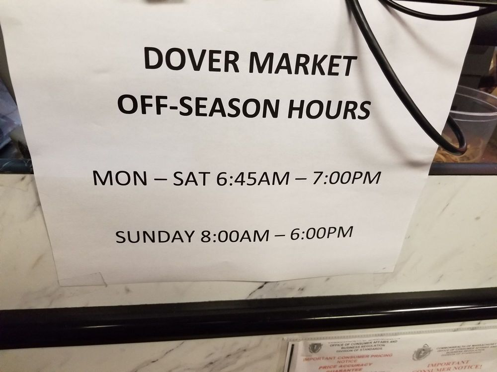 Dover Market: 14 Springdale Ave, Dover, MA