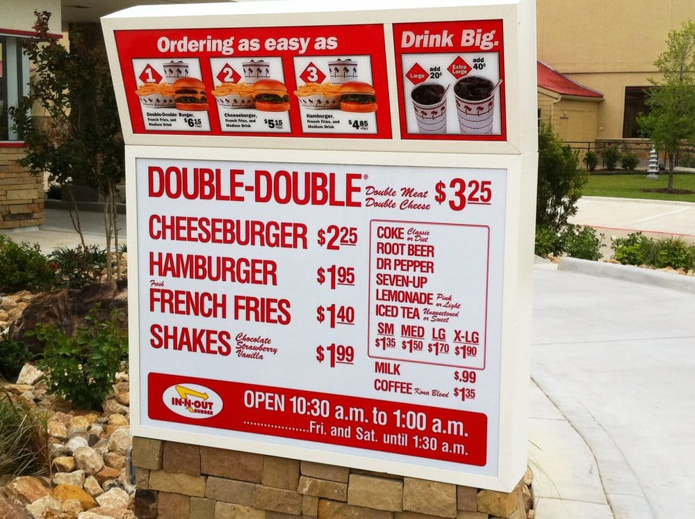 in n out burger menu yelp. Black Bedroom Furniture Sets. Home Design Ideas