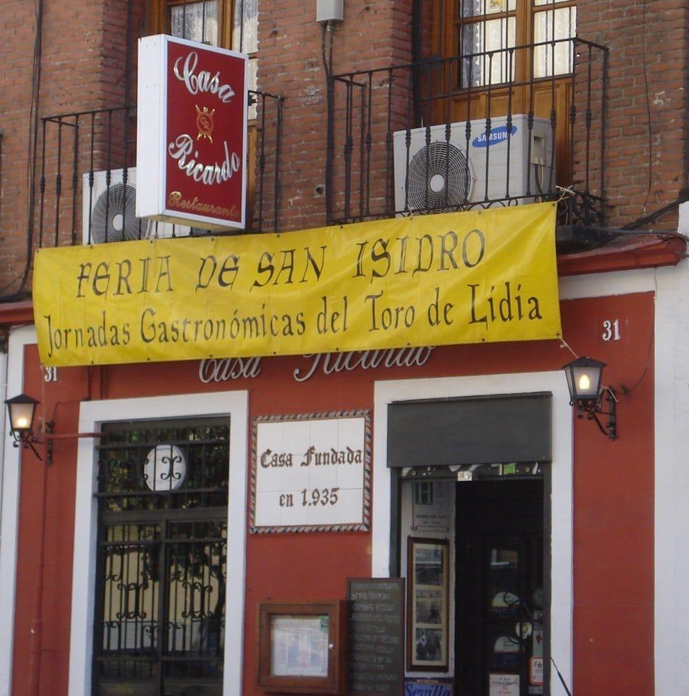 Casa ricardo spanish calle de fernando el cat lico 31 chamber madrid spain restaurant - Casa ricardo madrid ...