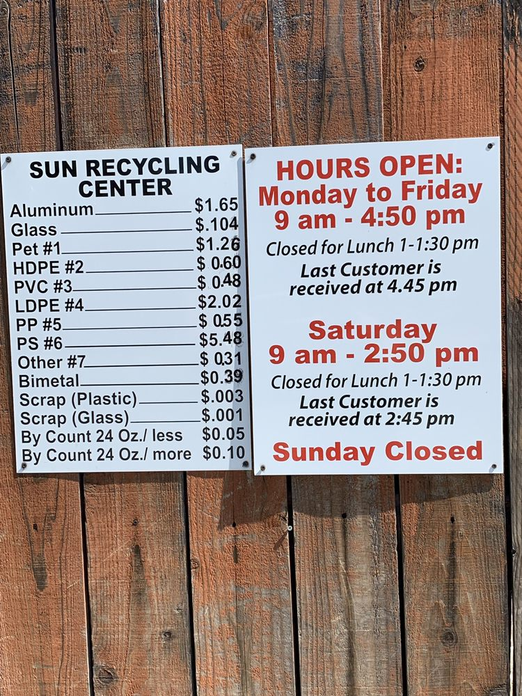 The Sun Recycling Center: 3315 Willow Pass Rd, Bay Point, CA