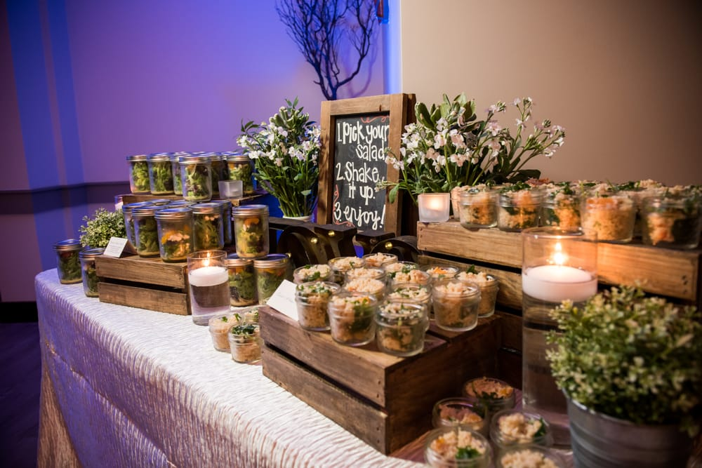 Mason Jar Salad Display Perfect For Wedding Receptions And Corporate