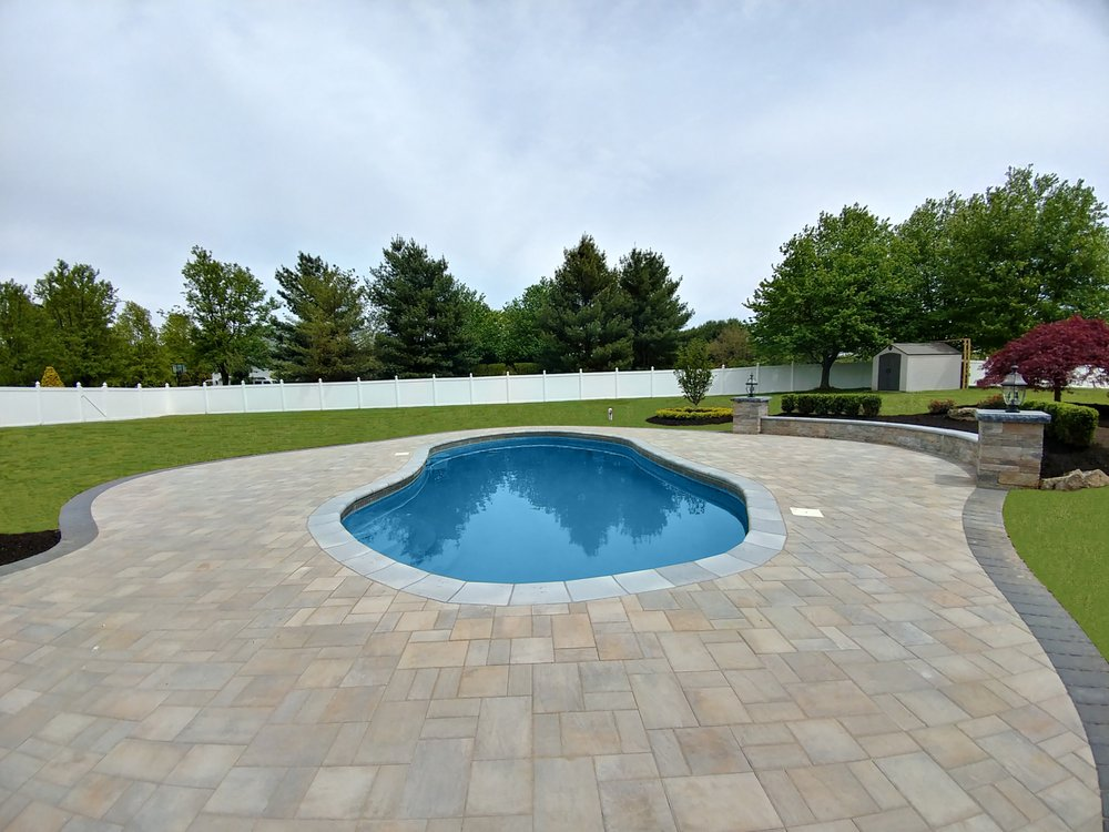 New pool deck pool coping in manalapan nj under for Pool designs under 30000