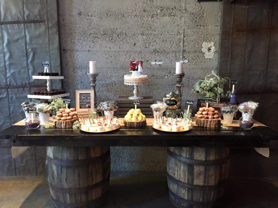 Their Wine Barrel Table We Used For Our Dessert Table Yelp