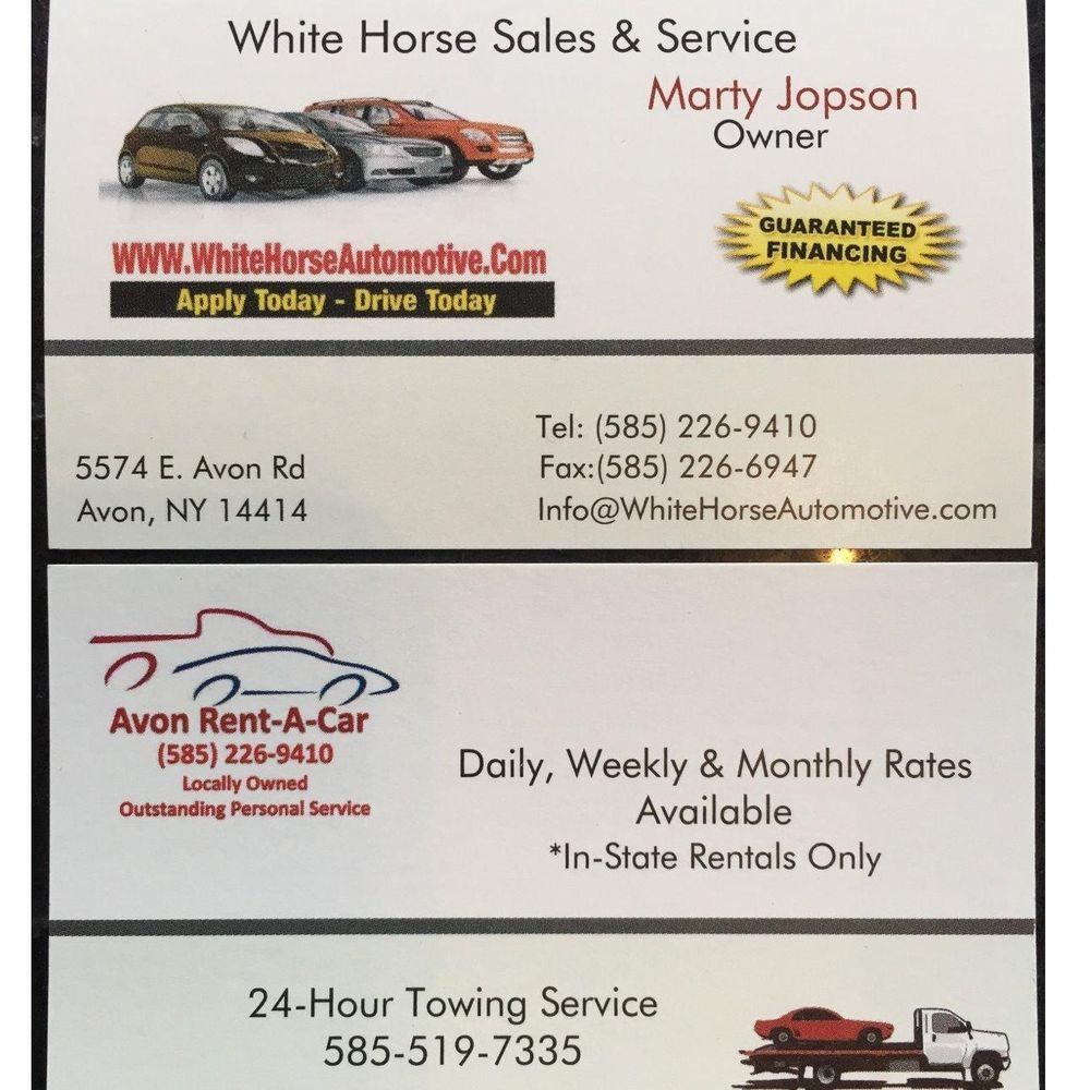 White Horse Sales & Service: 5574 E Avon Rd, Avon, NY