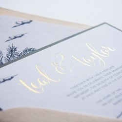 Clintons Wedding /& Reception Invitation Cards 10 Loose Cards /& 10 Envelopes