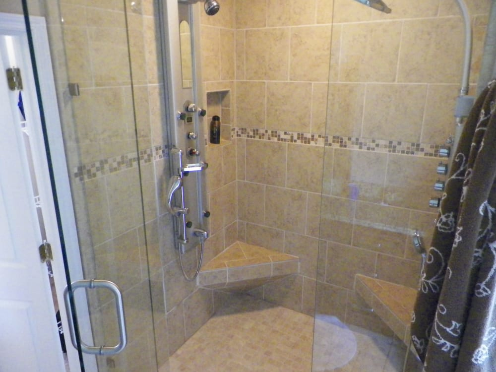 5 X 5 Shower With Dual Seats And Dual Shower Towers Yelp