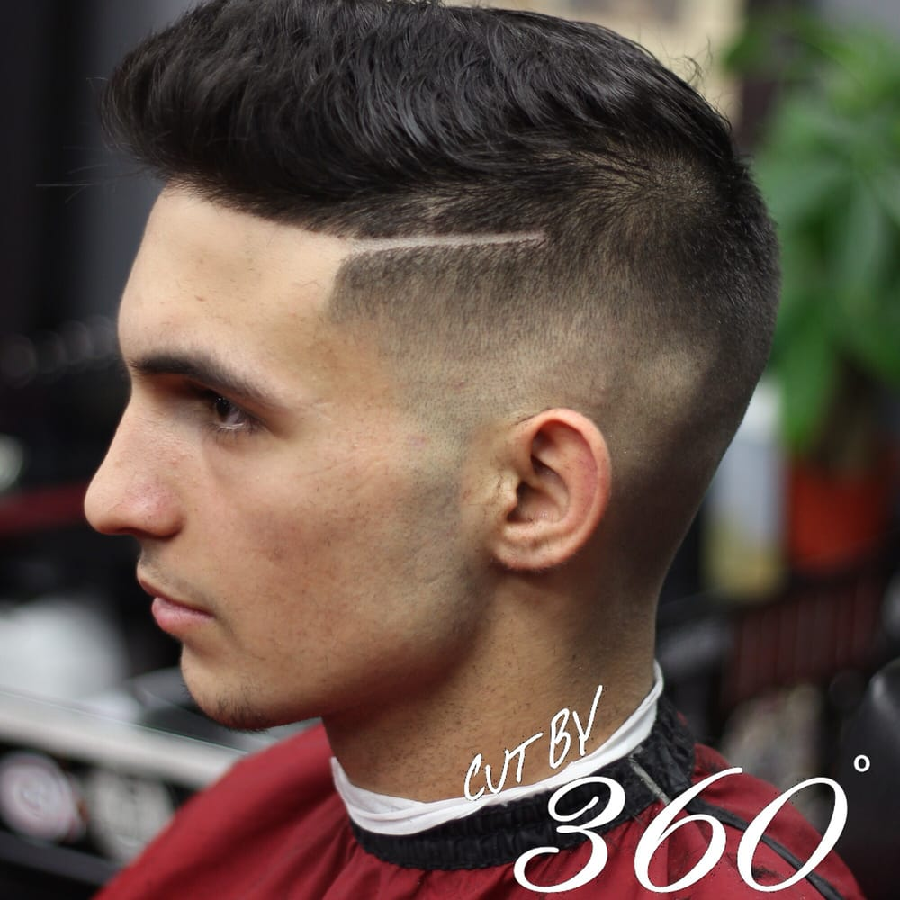 Skin fade fauxhawk with corner side part  Cut by 360  - Yelp