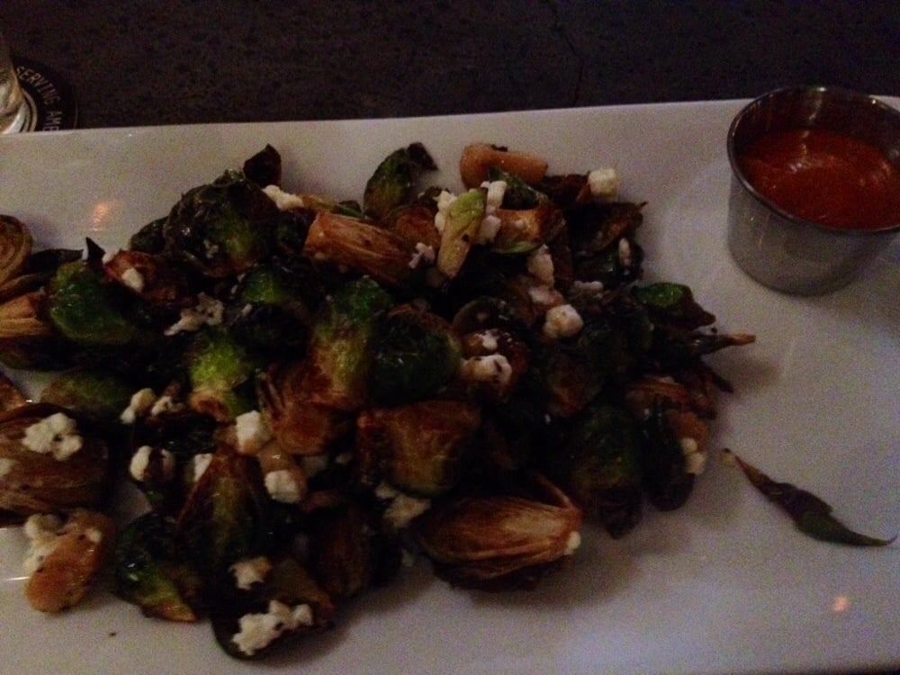 Brussel sprouts w roasted garlic blue cheese yelp for Craft 260 fairfield ct