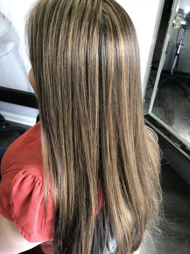 Brightened Her Natural Hair With Blonde Soft Highlights Yelp