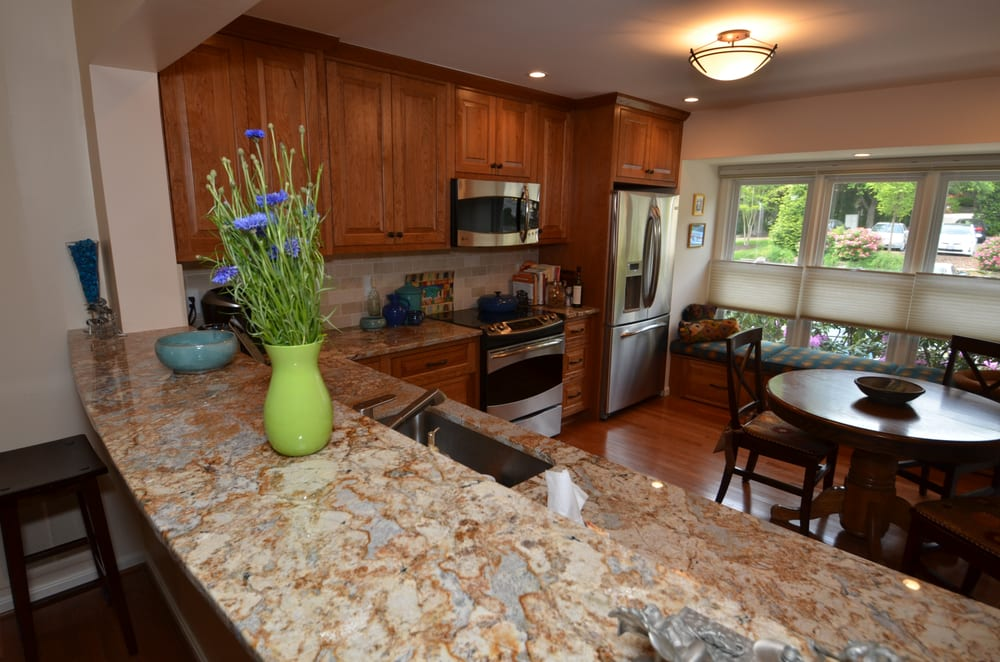 Natural Cherry Is A Classic Choice For Cabinets This Renovation Included Put