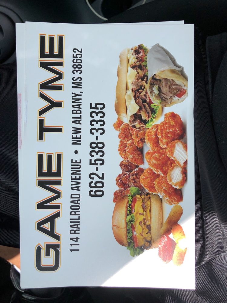 Game Tyme: 114 N Railroad Ave, New Albany, MS