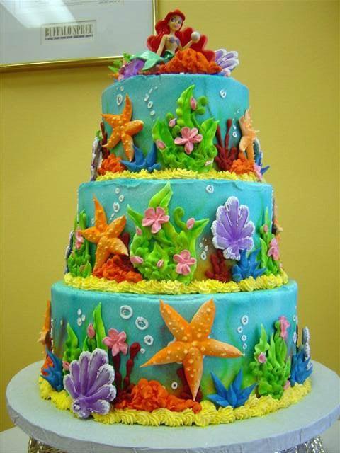 Mermaid Under The Sea Birthday Cake Yelp