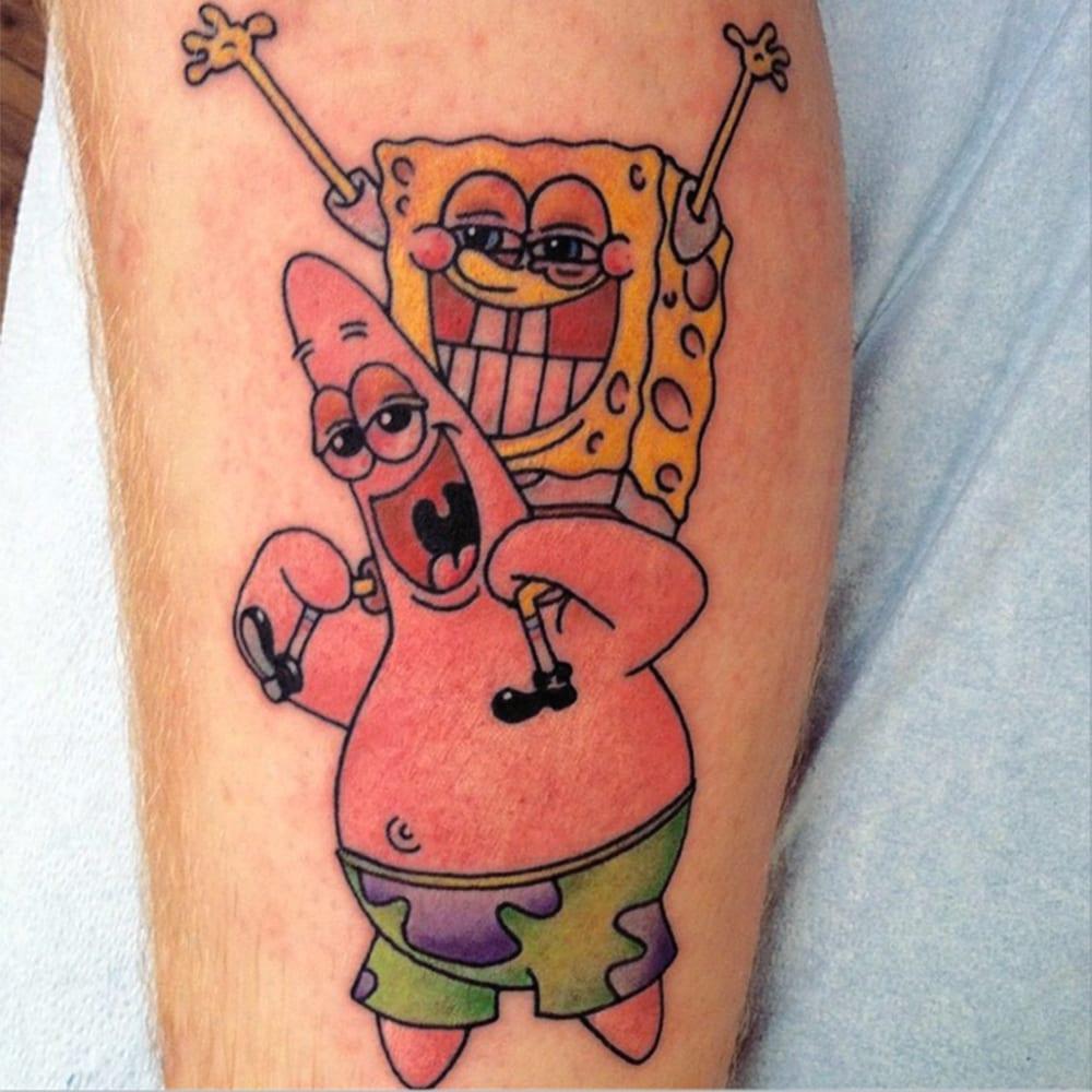 Stoner sponge bob and patrick yelp for Texas bobs tattoos
