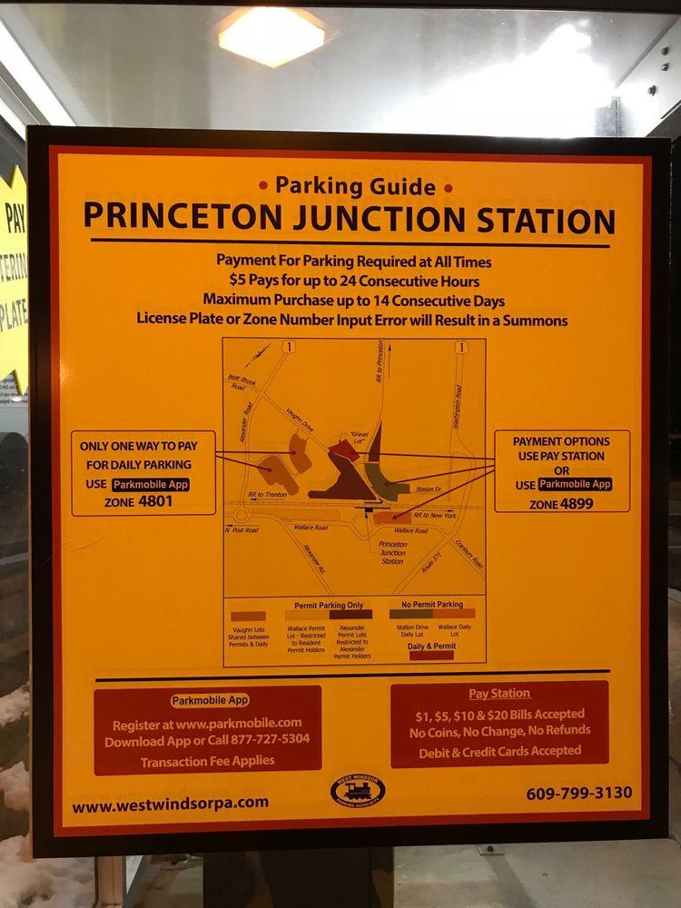 Parking map or Princeton junction train station  - Yelp