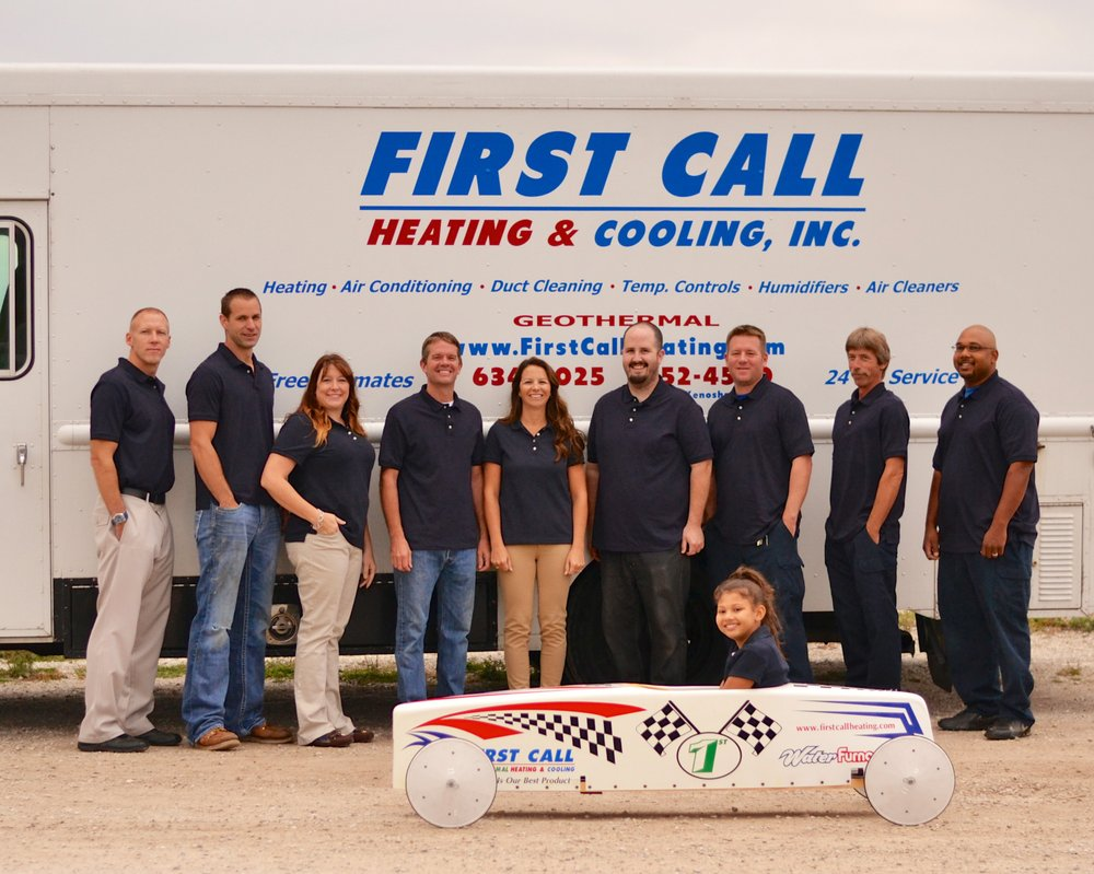 First Call Heating & Cooling: 4603 Durand Ave, Racine, WI