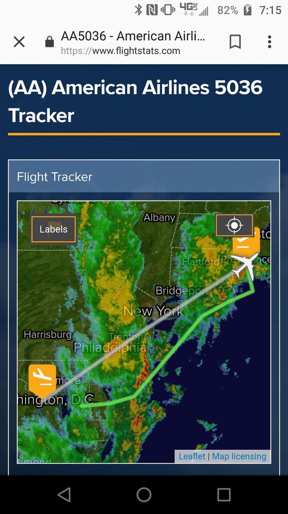 Flight tracker radar map of the weather that delayed, and ...