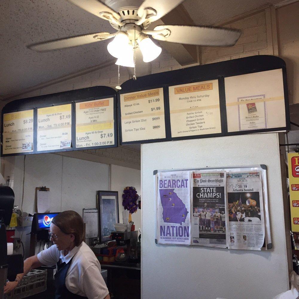 Rickys Steak & Buffet: 1302 E Shotwell St, Bainbridge, GA