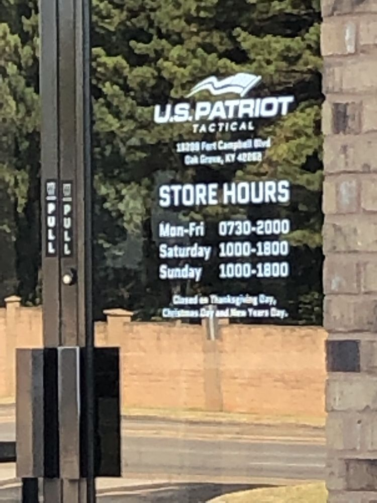 US Patriot Tactical: 16298 Fort Campbell Blvd, Oak Grove, KY