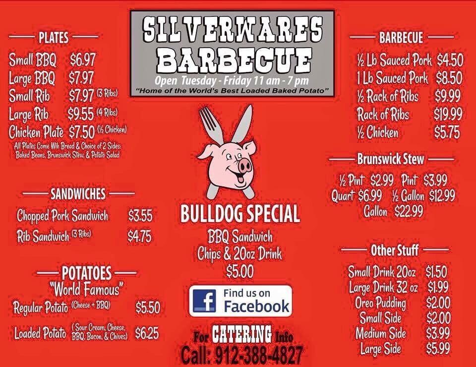 Silverwares Barbecue: 726 S State St, Lyons, GA