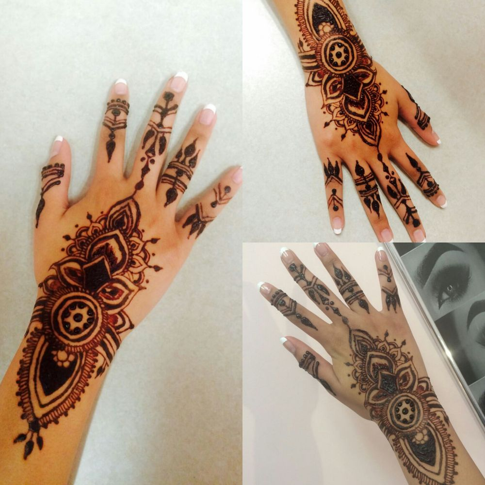 Henna Tattoo For Eyebrows: Henna Tattoo Design Done By Eyebrows & More By Tahira