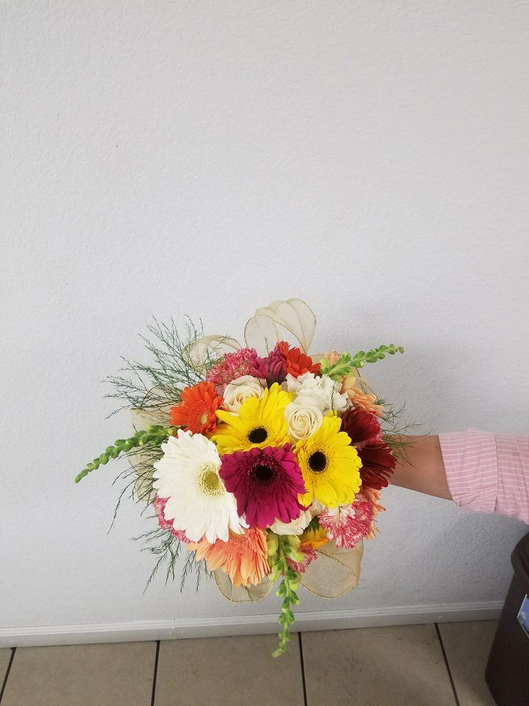 Cusrom made natural flower bouquet made for a quinceañera. - Yelp