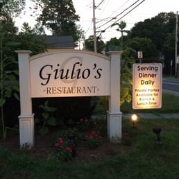Giulio's Restaurant - Tappan, NY, United States. Restaurant sign outside
