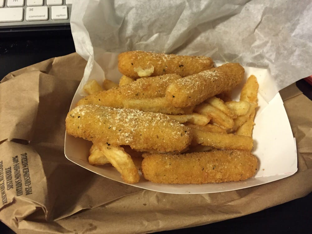 Cheese sticks yelp for Pittsburgh fish and chicken