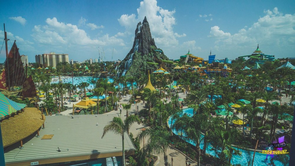 View From Our Beachside Tower Volcano Room In Cabana Bay